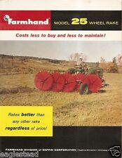 Farm Implement Brochure - Farmhand - 25 - Wheel Rake (F2114)