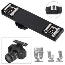 Dual Hot Shoe Flash Speedlite Light Bracket Splitter for Canon E-TTL DSLR 2C