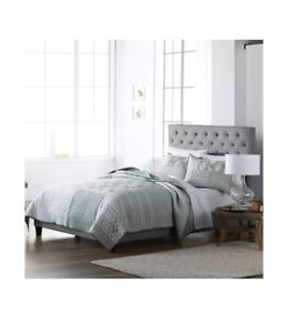 SONOMA GOODS FOR LIFE Reversible Quilt Mineral Green FULL/QUEEN 100% COTTON $159