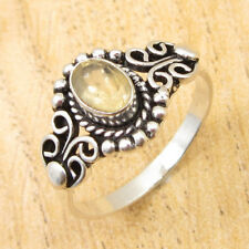 Ring Size US 7 1/2 ! 925 Silver Overlay Wonderful Citrine CUSTOM FIT Gift NEW