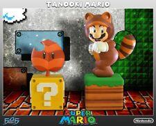 Tanooki Super Mario Exclusive Statue 267/750 First4Figures Nintendo NEW SEALED