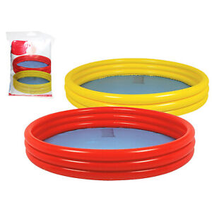 Kids Toddlers 3 Ring Garden Paddling Swimming Inflatable Pool Assorted Colours