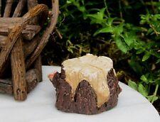 Miniature Dollhouse Fairy Garden ~ Mini Resin Tree Stump ~ New