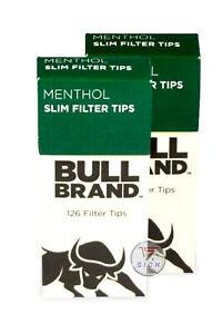 BULL BRAND MENTHOL EXTRA SLIM 126 FILTER TIPS 10 PACKS