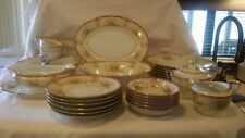 "Vintage Noritake ""M"" Dinnerware Service for 6 w/Serving Pieces - N796 Pattern"
