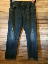 American Eagle Men's Relaxed Straight Jeans Sz 34/36 (34x33.5) Destroyed