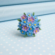 Forget Me Not SPILLA HAND-PAINTED FIORE GIOIELLI Made in Galles, Regno Unito