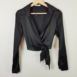 SHEIKE Womens Size 8 Long Sleeve Blouse with Tie Up Hem