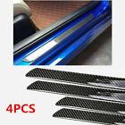 4x Accessories Carbon Fiber 5d Stickers Car Door Sill Protector Parts Universal