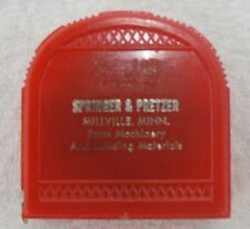 Old Miniature Neff'S Precision 1/2 Inch Tape Measure In Box With Advertising