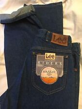 VTG LEE RIDERS NWT 1970s STRAIGHT LEG REGULR FIT JEANS UNION MADE IN USA 32 X 36