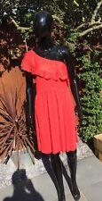 Ladies Mango One Shoulder Coral Dress Size L/12
