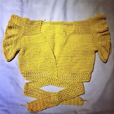 Handmade Cropped Frill Sleeve Crochet Top. It Has Been Designed And Made By Me