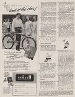 1947 Shelby Cycle Co Ohio Bicycle Men's Bike ShockEase Fork Vintage Photo Ad