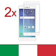 2x Pellicola Vetro Temperato Per Xiaomi Redmi Note 4X Bianco 100% Completo