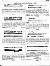 1958 5 Page Print Ad of Fishing Rods Conolon Great Lakes Reegil Wright & McGill