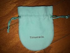 Set of 10 x Tiffany & Co. Small size blue flannel string pouch bag GIFT