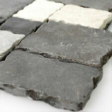 Naturstein Mosaik Fliesen Manila Schwarz Grau Beige