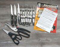 Rosenbaum Solingen Set handgearbeitet 6x Gabel 3x Messer 2x Schere Edelstahl