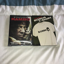 STALLONE RAMBO FULL SCREEN DVD WITH EXCLUSIVE BONUS T-SHIRT NEW 2007