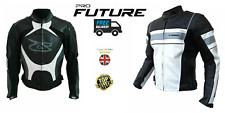 Leather Motorbike Motorcycle Jacket With Genuine CE Protective Biker Armour Sale
