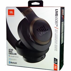 JBL Wireless Headphones LIVE 650BTNC Bluetooth Over-Ear Noise Cancelling - Black