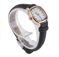 Women Small Square Watch Vintage Leather Wristwatch Slim Leather Watch For Lady