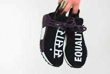 Adidas Pharrell NMD Hu US 10.5 Black Canvas Holi Human Race AC7033
