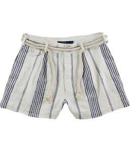Ralph Lauren Womens Rope Belt Casual Bermuda Shorts, Off-White, 6