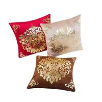 Pillow Case Pillowcase Sofa Waist Throw Cushion Cover Home Decor Gold Velvet