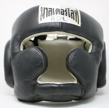 Muay Thai Sparring Head Guard Black Headgear Protection Kickboxing or Boxing