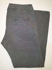 "DIESEL ""Katox"" Gray Striped Hook Waist Boot-cut Pant-Style Jeans Sz 36"
