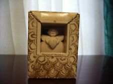 1993 Handcrafted Heart Angel Ornament Easel Ribbon Margaret Furlong Designs Nib