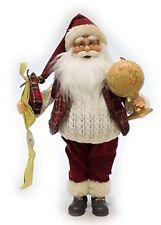 Babbo Natale con Musica e Movimento 45 cm Con Mappamondo 43810