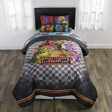 Five Night's at Freddy's 4 Pcs Twin size Comforter Reversible Set Sheet Pillow
