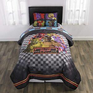 Five Night's at Freddy's 5 Pcs Full size Comforter Reversible Set Sheet Pillow