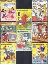 Antigua 1989 disney/Mickey/Donald/Dingo/Timbres/musique/animation 8 V Set (n42577)