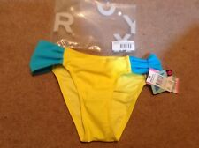 BNWB LOVELY SMALL COVERAGE ROXY SUNGLOW YELLOW BIKINI BOTTOMS SIZE SMALL