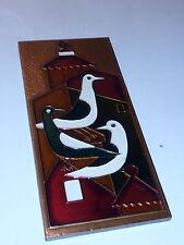 GRECE ancien PLAQUE tableau AETHRA Retro Greek Ethnic Copper BIRDS cuivre COPPER
