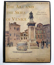 1925 The Art And The Skies of Venice - Mauclair Vignal Water Colors Out-of-Print