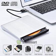 USB3.0 External DVD W RW CD Writer Slim Drive Burner Reader Player For PC Laptop