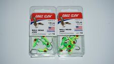 (2 Set) Eagle Claw Ball Head Fishing Jigs 1/8 oz 10 Qty Neon PFBH18-12