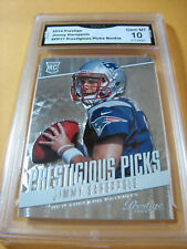 JIMMY GAROPPOLO PATRIOTS 49ERS 2014 PRESTIGE PRESTIGIOUS PICKS RC #PP17GRADED 10