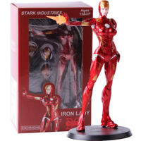 Iron Man Stark Industries Iron Lady Pepper Potts PVC Action Figure Model Toy