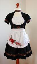 Maid-Kleid, Rose, schwarz, rot, Kostüm