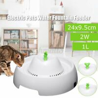 Electric Pets Water Dog Cat Puppy Drinking Dispenser Fountain Feeder Bowl