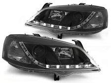 LED HEADLIGHTS LPOP40 OPEL ASTRA G 1997 1998 1999 2000 2001 2002 2003 2004 BLACK