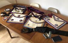 Vintage Job Lot of Masonic Aprons Sashes & Other Bits & Bobs Masons