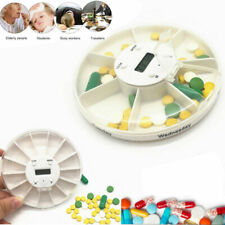 Pill Dispenser Pill Box with Alarm Electronic Medication Reminder 7 Compartment