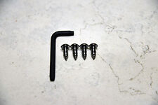Anti-Theft *BLACK NICKEL* Security Screws for FORD F150 REAR License Plate